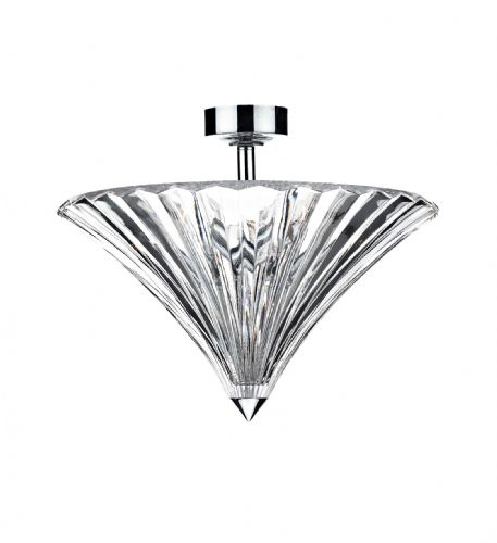 Ardeche 3-light Polished Chrome Flush Ceiling Light (Class 2 Double Insulated) BXARD5350-17